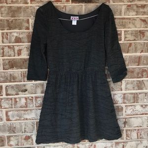 Three Pink Hearts Gray Fall Knit Dress SIze XL
